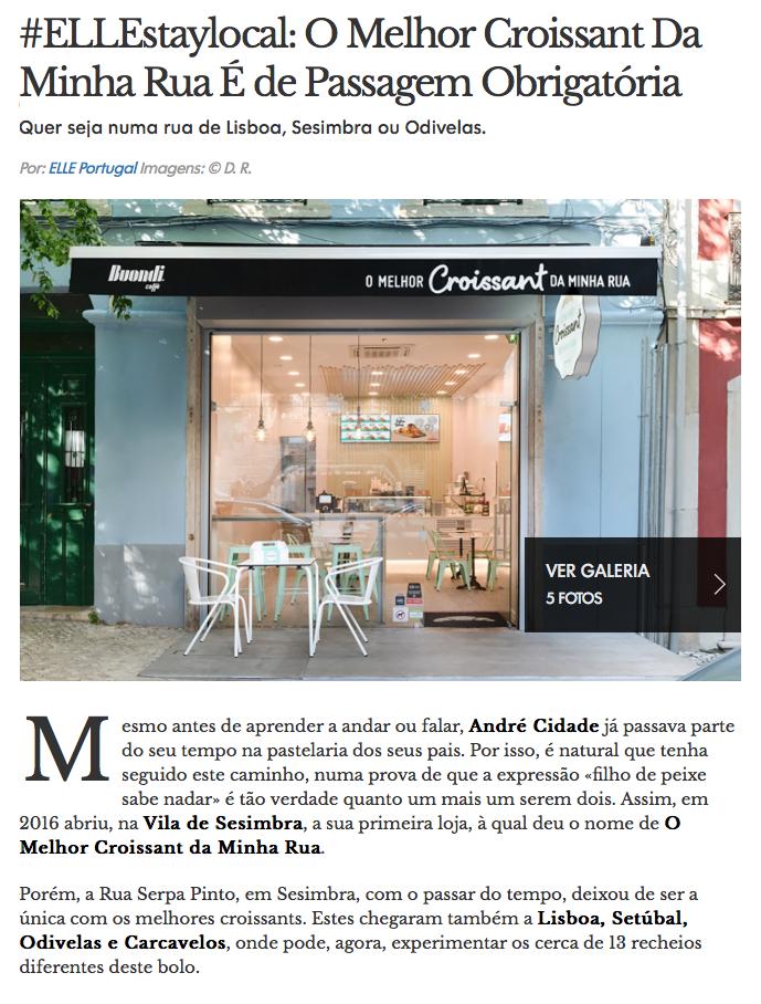 A Elle decreta O Melhor Croissant da Minha Rua como uma paragem obrigatória