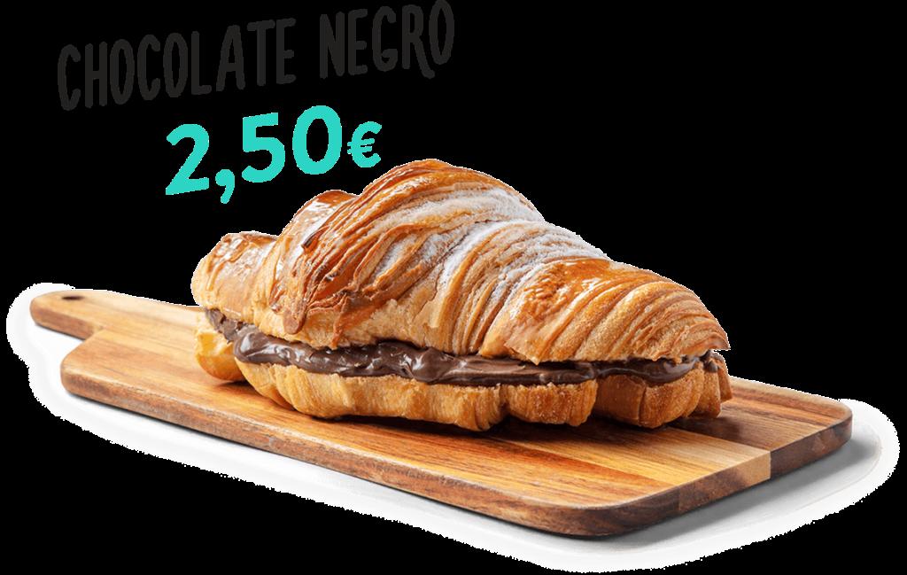 Croissant de chocolate negro, um dos produtos que fazem parte do menu d'O Melhor Croissant da Minha Rua.