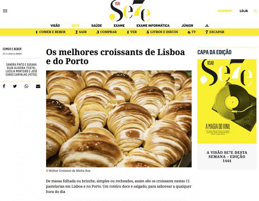 Afinal a Visão também tem paladar. Obrigado pelo 1ºlugar no ranking dos croissants de Lisboa e Porto.